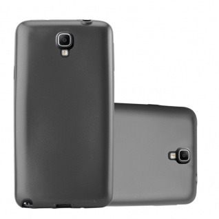 Cadorabo Hülle für Samsung Galaxy NOTE 3 NEO in METALLIC GRAU - Handyhülle aus flexiblem TPU Silikon - Silikonhülle Schutzhülle Ultra Slim Soft Back Cover Case Bumper