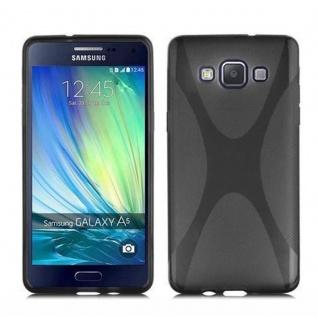 Cadorabo Hülle für Samsung Galaxy A7 2015 in OXID SCHWARZ ? Handyhülle aus flexiblem TPU Silikon ? Silikonhülle Schutzhülle Ultra Slim Soft Back Cover Case Bumper