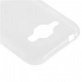 Cadorabo Hülle für Samsung Galaxy J1 2015 in VOLL TRANSPARENT - Handyhülle aus flexiblem TPU Silikon - Silikonhülle Schutzhülle Ultra Slim Soft Back Cover Case Bumper - Vorschau 4