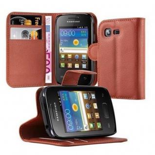Cadorabo Hülle für Samsung Galaxy POCKET 2 in SCHOKO BRAUN - Handyhülle mit Magnetverschluss, Standfunktion und Kartenfach - Case Cover Schutzhülle Etui Tasche Book Klapp Style