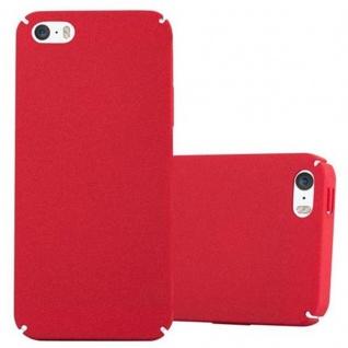 Cadorabo Hülle für Apple iPhone 5 / iPhone 5S / iPhone SE in FROSTY ROT - Hardcase Handyhülle aus Plastik gegen Kratzer und Stöße - Schutzhülle Bumper Ultra Slim Back Case Hard Cover