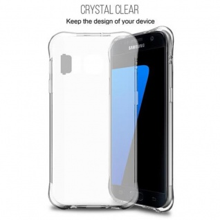 Cadorabo Hülle für Samsung Galaxy S7 - Hülle in STAR TRANSPARENT - Handyhülle aus TPU Silikon im LED-Blitzlicht-Design - Silikonhülle Schutzhülle Ultra Slim Soft Back Cover Case Bumper - Vorschau 5