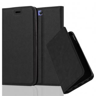 Cadorabo Hülle für Xiaomi Mi 6 in NACHT SCHWARZ - Handyhülle mit Magnetverschluss, Standfunktion und Kartenfach - Case Cover Schutzhülle Etui Tasche Book Klapp Style