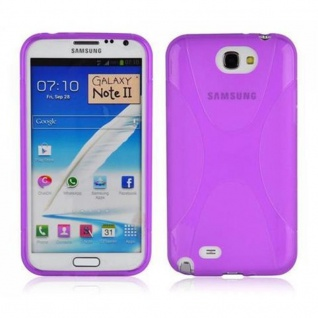 Cadorabo Hülle für Samsung Galaxy NOTE 2 in FLIEDER VIOLETT ? Handyhülle aus flexiblem TPU Silikon ? Silikonhülle Schutzhülle Ultra Slim Soft Back Cover Case Bumper