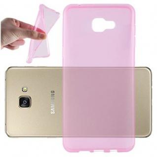 Cadorabo Hülle für Samsung Galaxy A9 2016 in TRANSPARENT PINK - Handyhülle aus flexiblem TPU Silikon - Silikonhülle Schutzhülle Ultra Slim Soft Back Cover Case Bumper