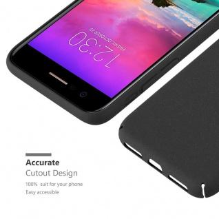 Cadorabo Hülle für LG K10 2017 in FROSTY SCHWARZ - Hardcase Handyhülle aus Plastik gegen Kratzer und Stöße - Schutzhülle Bumper Ultra Slim Back Case Hard Cover - Vorschau 5