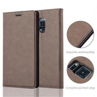 Cadorabo Hülle für Samsung Galaxy NOTE EDGE in KAFFEE BRAUN - Handyhülle mit Magnetverschluss, Standfunktion und Kartenfach - Case Cover Schutzhülle Etui Tasche Book Klapp Style - Vorschau 5
