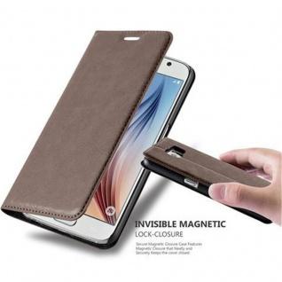 Cadorabo Hülle für Samsung Galaxy S6 in KAFFEE BRAUN Handyhülle mit Magnetverschluss, Standfunktion und Kartenfach Case Cover Schutzhülle Etui Tasche Book Klapp Style