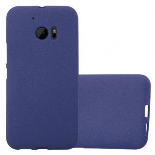 Cadorabo Hülle für HTC ONE M10 in FROST DUNKEL BLAU - Handyhülle aus flexiblem TPU Silikon - Silikonhülle Schutzhülle Ultra Slim Soft Back Cover Case Bumper