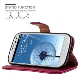 Cadorabo Hülle für Samsung Galaxy S3 / S3 NEO in WEIN ROT ? Handyhülle mit Magnetverschluss, Standfunktion und Kartenfach ? Case Cover Schutzhülle Etui Tasche Book Klapp Style - Vorschau 5