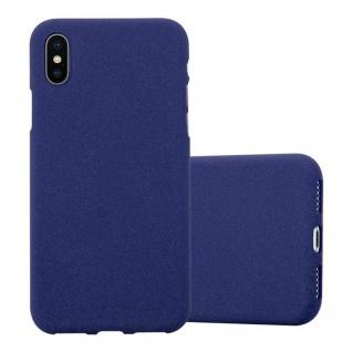 Cadorabo Hülle für Apple iPhone X / XS in FROST DUNKEL BLAU - Handyhülle aus flexiblem TPU Silikon - Silikonhülle Schutzhülle Ultra Slim Soft Back Cover Case Bumper