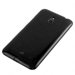 Cadorabo Hülle für Nokia Lumia 1320 in JELLY SCHWARZ - Handyhülle aus flexiblem TPU Silikon - Silikonhülle Schutzhülle Ultra Slim Soft Back Cover Case Bumper - Vorschau 3