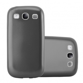 Cadorabo Hülle für Samsung Galaxy S3 / S3 NEO in METALLIC GRAU - Handyhülle aus flexiblem TPU Silikon - Silikonhülle Schutzhülle Ultra Slim Soft Back Cover Case Bumper