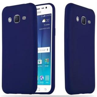 Cadorabo Hülle für Samsung Galaxy J2 2015 in CANDY DUNKEL BLAU - Handyhülle aus flexiblem TPU Silikon - Silikonhülle Schutzhülle Ultra Slim Soft Back Cover Case Bumper