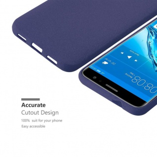 Cadorabo Hülle für Huawei NOVA PLUS in FROST DUNKEL BLAU - Handyhülle aus flexiblem TPU Silikon - Silikonhülle Schutzhülle Ultra Slim Soft Back Cover Case Bumper - Vorschau 3
