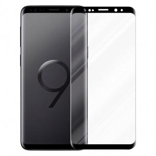 Cadorabo Panzer Folie voll klebend für Samsung Galaxy S9 Plus - Schutzfolie in TRANSPARENT mit SCHWARZ - Gehärtetes Full Glue (Tempered) Display-Schutzglas in 9H Härte mit 3D Touch Kompatibilität - Vorschau 2