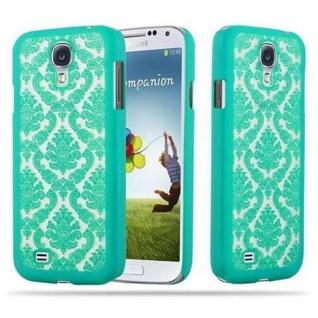 Samsung Galaxy S4 Hardcase Hülle in GRÜN von Cadorabo - Blumen Paisley Henna Design Schutzhülle ? Handyhülle Bumper Back Case Cover