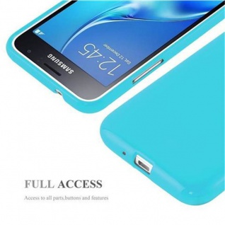 Cadorabo Hülle für Samsung Galaxy J1 2015 in JELLY HELL BLAU - Handyhülle aus flexiblem TPU Silikon - Silikonhülle Schutzhülle Ultra Slim Soft Back Cover Case Bumper - Vorschau 4