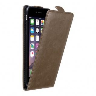 Cadorabo Hülle für Apple iPhone 6 PLUS / iPhone 6S PLUS in KAFFEE BRAUN - Handyhülle im Flip Design mit unsichtbarem Magnetverschluss - Case Cover Schutzhülle Etui Tasche Book Klapp Style