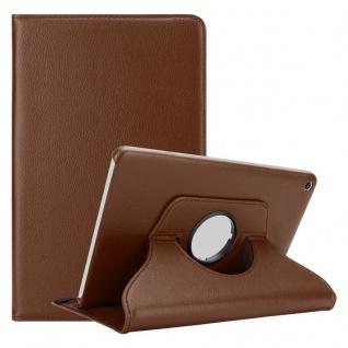 """Cadorabo Tablet Hülle für Huawei MediaPad T1 8 (8, 0"""" Zoll) in PILZ BRAUN Book Style Schutzhülle OHNE Auto Wake Up mit Standfunktion und Gummiband Verschluss"""