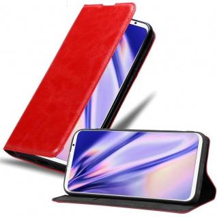 Cadorabo Hülle für MEIZU 16TH in APFEL ROT Handyhülle mit Magnetverschluss, Standfunktion und Kartenfach Case Cover Schutzhülle Etui Tasche Book Klapp Style