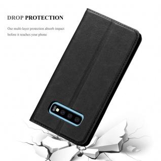 Cadorabo Hülle für Samsung Galaxy S10 in NACHT SCHWARZ - Handyhülle mit Magnetverschluss, Standfunktion und Kartenfach - Case Cover Schutzhülle Etui Tasche Book Klapp Style - Vorschau 5
