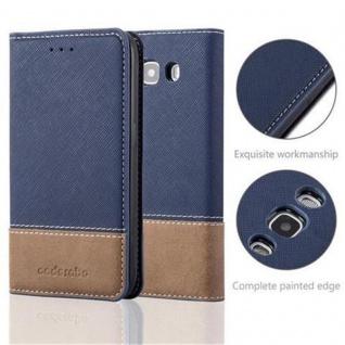 Cadorabo Hülle für Samsung Galaxy J5 2016 in DUNKEL BLAU BRAUN ? Handyhülle mit Magnetverschluss, Standfunktion und Kartenfach ? Case Cover Schutzhülle Etui Tasche Book Klapp Style