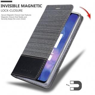 Cadorabo Hülle für Huawei MATE 20 PRO in GRAU SCHWARZ - Handyhülle mit Magnetverschluss, Standfunktion und Kartenfach - Case Cover Schutzhülle Etui Tasche Book Klapp Style - Vorschau 3