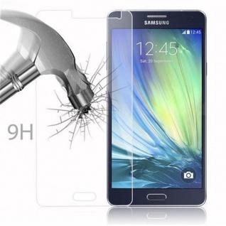 Cadorabo Panzer Folie für Samsung Galaxy A7 2015 - Schutzfolie in KRISTALL KLAR - Gehärtetes (Tempered) Display-Schutzglas in 9H Härte mit 3D Touch Kompatibilität - Vorschau 3