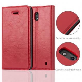 Cadorabo Hülle für Nokia 2 2017 in APFEL ROT - Handyhülle mit Magnetverschluss, Standfunktion und Kartenfach - Case Cover Schutzhülle Etui Tasche Book Klapp Style - Vorschau 2