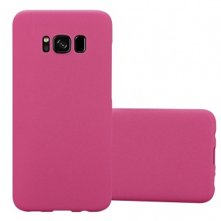 Cadorabo Hülle für Samsung Galaxy S8 in FROSTY PINK - Hardcase Handyhülle aus Plastik gegen Kratzer und Stöße - Schutzhülle Bumper Ultra Slim Back Case Hard Cover