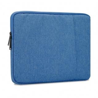 Cadorabo Laptop / Tablet Tasche 14'' Zoll in HELL BLAU ? Notebook Computer Tasche aus Stoff mit Samt-Innenfutter und Fach mit Anti-Kratz Reißverschluss ? Schutzhülle Sleeve Case