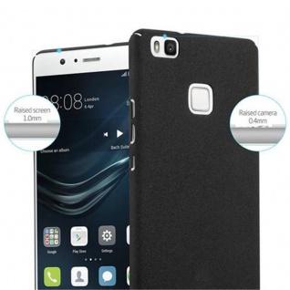 Cadorabo Hülle für Huawei P9 LITE in FROSTY SCHWARZ - Hardcase Handyhülle aus Plastik gegen Kratzer und Stöße - Schutzhülle Bumper Ultra Slim Back Case Hard Cover - Vorschau 5