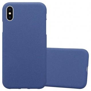 Cadorabo Hülle für Apple iPhone XS MAX in FROST DUNKEL BLAU Handyhülle aus flexiblem TPU Silikon Silikonhülle Schutzhülle Ultra Slim Soft Back Cover Case Bumper