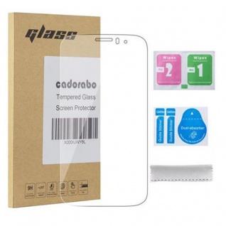 Cadorabo Panzerglas für Alcatel C5 - Schutzfolie in KRISTALL KLAR ? Gehärtetes (Tempered) Display-Schutzglas in 9H Härte mit 3D Touch Kompatibilität