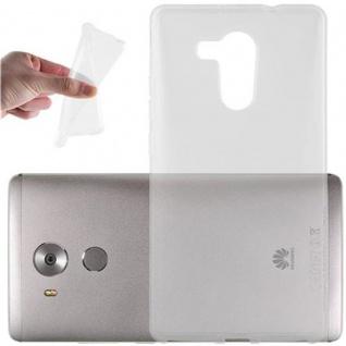 Cadorabo Hülle für Huawei MATE 7 in VOLL TRANSPARENT - Handyhülle aus flexiblem TPU Silikon - Silikonhülle Schutzhülle Ultra Slim Soft Back Cover Case Bumper