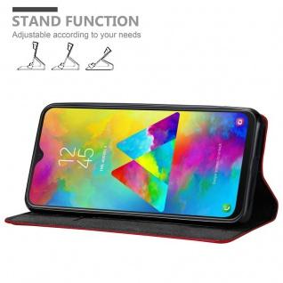 Cadorabo Hülle für Samsung Galaxy M20 in APFEL ROT - Handyhülle mit Magnetverschluss, Standfunktion und Kartenfach - Case Cover Schutzhülle Etui Tasche Book Klapp Style - Vorschau 3