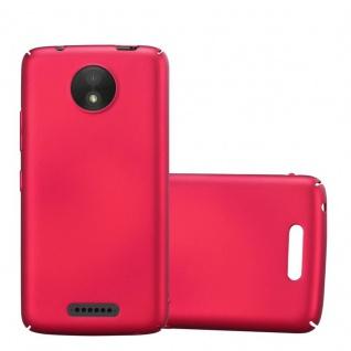 Cadorabo Hülle für Motorola MOTO C in METALL ROT ? Hardcase Handyhülle aus Plastik gegen Kratzer und Stöße ? Schutzhülle Bumper Ultra Slim Back Case Hard Cover