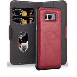 Cadorabo Hülle für Samsung Galaxy S8 PLUS Hülle in GRANATAPFEL ROT Handyhülle im 2-in-1 Design mit Standfunktion und Kartenfach Hard Case Book Etui Schutzhülle Tasche Cover