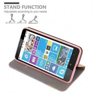 Cadorabo Hülle für Nokia Lumia 1320 in HELL GRAU BRAUN - Handyhülle mit Magnetverschluss, Standfunktion und Kartenfach - Case Cover Schutzhülle Etui Tasche Book Klapp Style - Vorschau 4