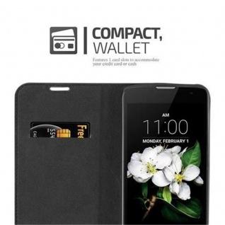 Cadorabo Hülle für LG K7 2017 in APFEL ROT Handyhülle mit Magnetverschluss, Standfunktion und Kartenfach Case Cover Schutzhülle Etui Tasche Book Klapp Style - Vorschau 5