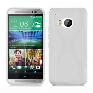 Cadorabo Hülle für HTC ONE M9 (3.Gen.) in HALB TRANSPARENT ? Handyhülle aus flexiblem TPU Silikon ? Silikonhülle Schutzhülle Ultra Slim Soft Back Cover Case Bumper