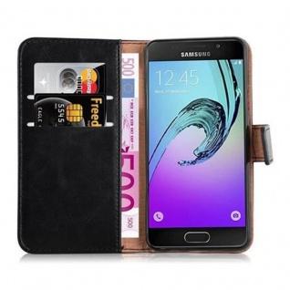 Cadorabo Hülle für Samsung Galaxy A3 2016 in GRAPHIT SCHWARZ - Handyhülle mit Magnetverschluss, Standfunktion und Kartenfach - Case Cover Schutzhülle Etui Tasche Book Klapp Style - Vorschau 5