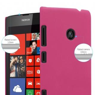 Cadorabo Hülle für Nokia Lumia 520 in FROSTY PINK - Hardcase Handyhülle aus Plastik gegen Kratzer und Stöße - Schutzhülle Bumper Ultra Slim Back Case Hard Cover - Vorschau 4