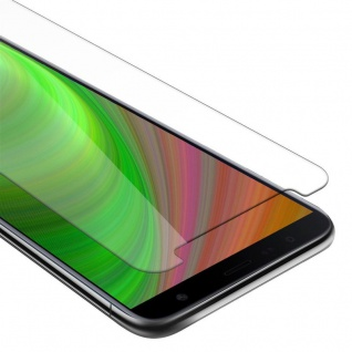 Cadorabo Panzer Folie für Samsung Galaxy J6 PLUS - Schutzfolie in KRISTALL KLAR - Gehärtetes (Tempered) Display-Schutzglas in 9H Härte mit 3D Touch Kompatibilität