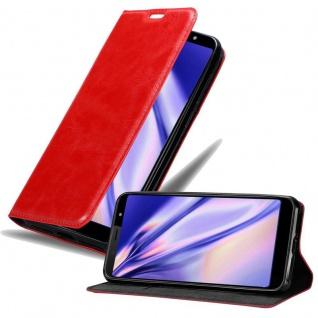 Cadorabo Hülle für HTC U12 LIFE in APFEL ROT Handyhülle mit Magnetverschluss, Standfunktion und Kartenfach Case Cover Schutzhülle Etui Tasche Book Klapp Style