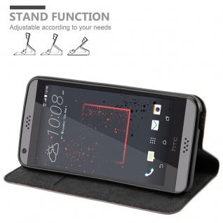 Cadorabo Hülle für HTC DESIRE 530 / 630 in KAFFEE BRAUN - Handyhülle mit Magnetverschluss, Standfunktion und Kartenfach - Case Cover Schutzhülle Etui Tasche Book Klapp Style - Vorschau 4