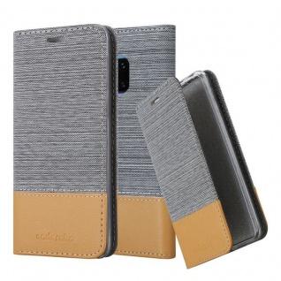Cadorabo Hülle für Huawei MATE 20 PRO in HELL GRAU BRAUN - Handyhülle mit Magnetverschluss, Standfunktion und Kartenfach - Case Cover Schutzhülle Etui Tasche Book Klapp Style