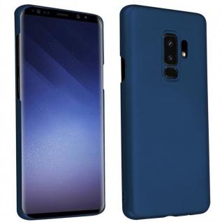 Cadorabo Hülle für Samsung Galaxy S9 PLUS in METALL BLAU - Hardcase Handyhülle aus Plastik gegen Kratzer und Stöße - Schutzhülle Bumper Ultra Slim Back Case Hard Cover