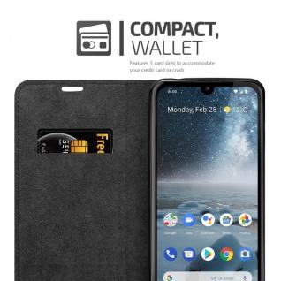 Cadorabo Hülle für Nokia 4.2 in APFEL ROT Handyhülle mit Magnetverschluss, Standfunktion und Kartenfach Case Cover Schutzhülle Etui Tasche Book Klapp Style - Vorschau 4